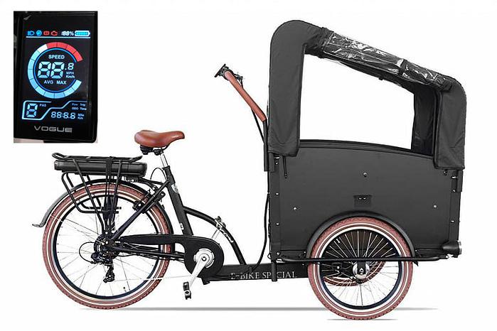 Troy-Elektrische-bakfiets-driewieler-Kleuren display 7-speed-24-inch-26-inch