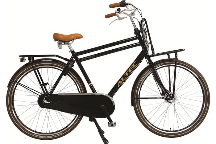 Altec Retro Heren Transportfiets 28 inch zwart