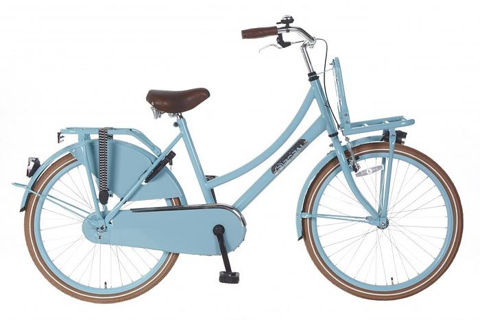 Meisjes Transportfiets Popal daily dutch basic 24 inch Blauw