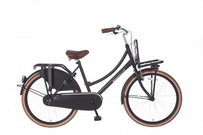 Meisjes Transportfiets Popal daily dutch basic 24 inch mat zwart
