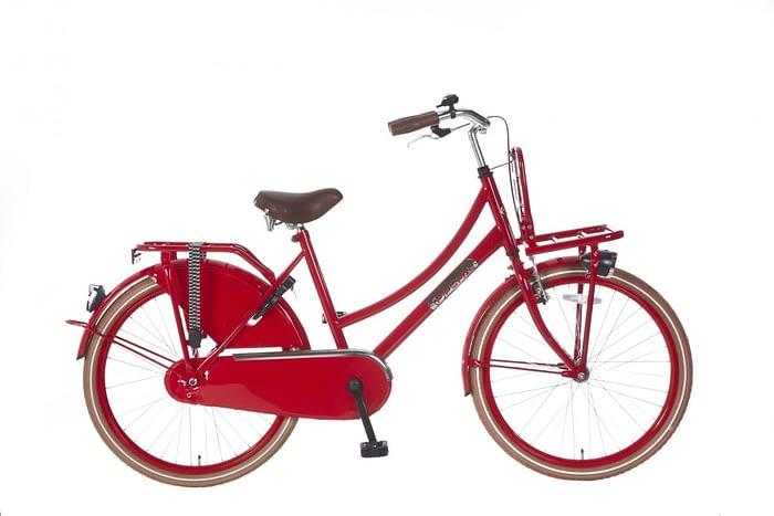 Meisjes Transportfiets Popal daily dutch basic 24 inch rood