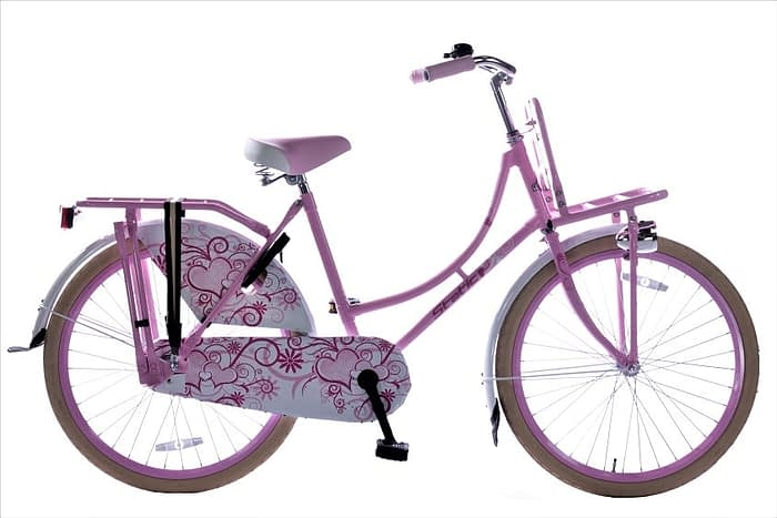 Static omafiets 24 inch Roze