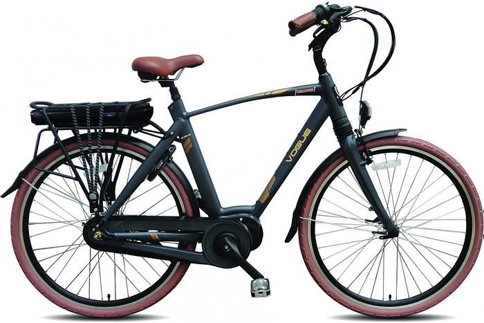 VOGUE DISCOVER Elektrische fiets 28inch e-bike' Matt Grey 8SP Man 53 cm (1020247)