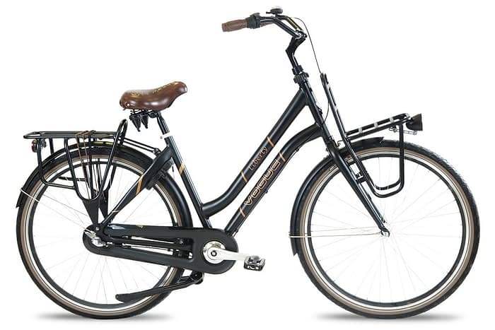 Vogue liberty dames transportfiets mat Zwart
