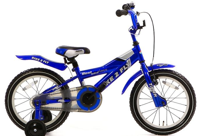 popal bike 2 fly jongensfiets 16 inch blauw