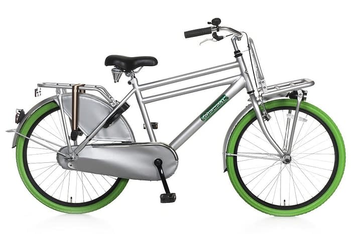 popal daily dutch basic jongens transportfiets 24 inch grijs groen