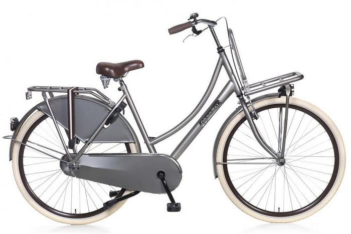 popal daily dutch basic transportfiets titanium grijs