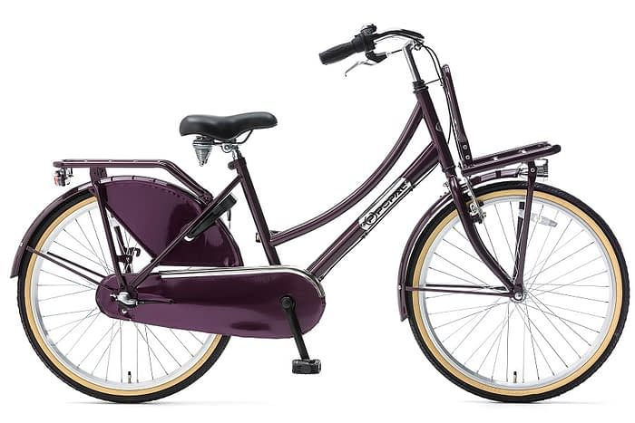 popal daily dutch plus 24 inch meisjes transportfiets paars