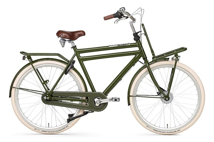 popal daily dutch prestige N7 herenfiets Rollerbrake + naafdynamo leger groen