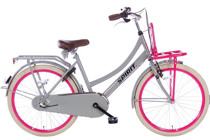 spirit-cargo-N3-grijs-roze-24 inch meisjesfiets