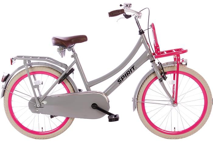 spirit-cargo-grijs-roze-22 inch meisjesfiets