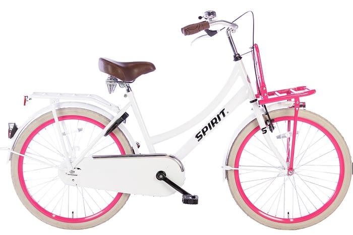 spirit-cargo-wit-roze-24 inch meisjesfiets