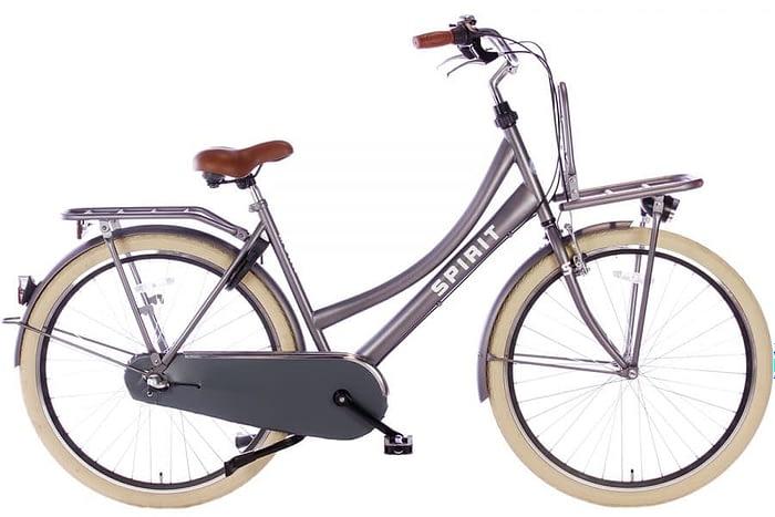 spirit-mona-Moederfiets 28 inch MamaFietsN3-mat-grijs-28750-1500x1000