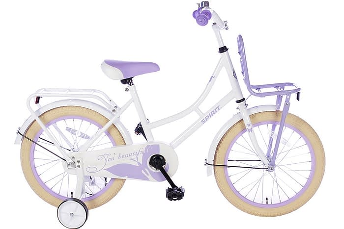 spirit-omafiets 18 inch wit paars