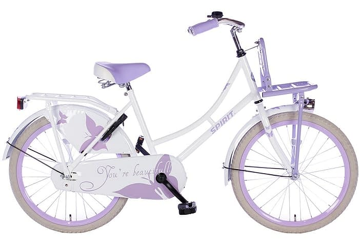spirit-omafiets 20 inch wit paars