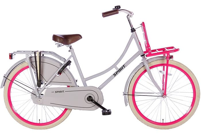 spirit-omafiets 24 inch grijs roze