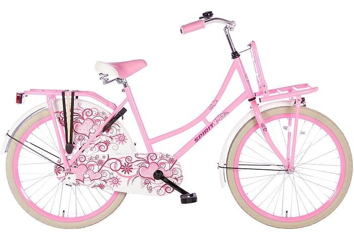 spirit-omafiets 24 inch roze