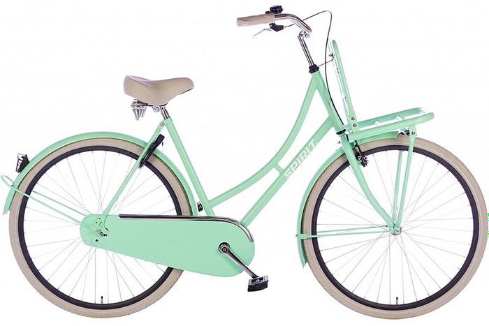 spirit-retro-damesfiets mat-groen