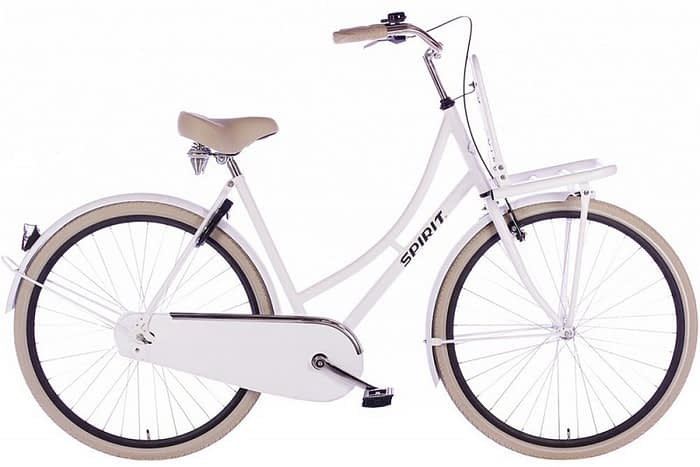 spirit-retro dames fiets mat-wit