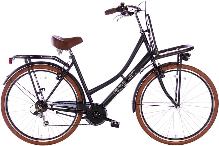 spirit-transporter-7-speed-mat-zwart-28 inch damesfiets