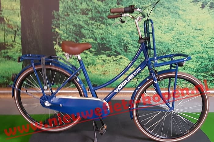 vogue elite dames transportfiets marine blauw 3