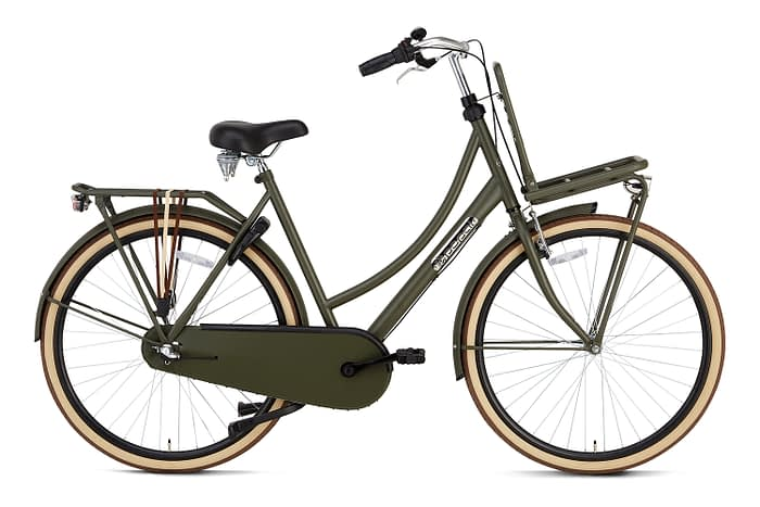 Popal Daily Dutch Basic plus 28 inch dames Transportfiets Army Green