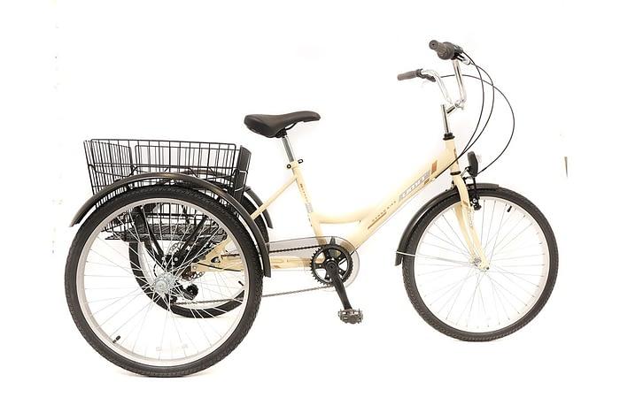 Umit-Driewieler-Senioren-24-inch-Creme-100-RIJKLAAR-GELEVERD-Nieuw