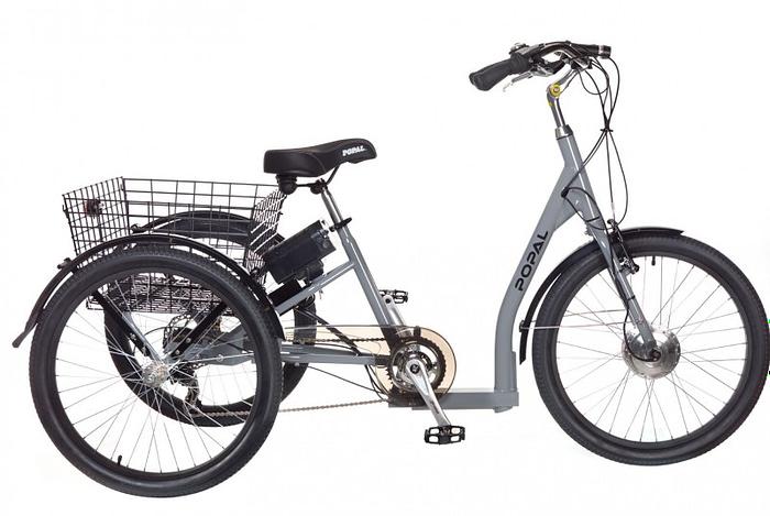 Popal Elektrische driewieler E-bike 24 inch Grijs