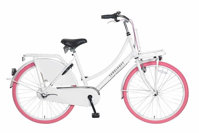 Popal Zadelhoff Season+ 26 inch wit met roze banden
