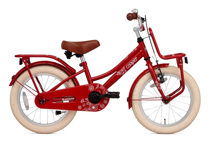 Popal Cooper 16 inch meisjesfiets rood