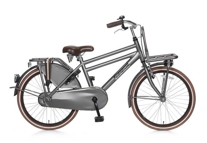 popal daily dutch basic jongens transportfiets 22 inch Titanium grijs