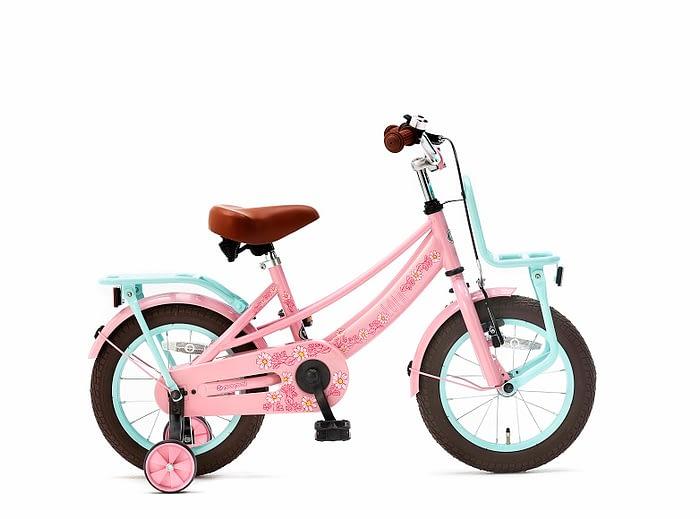 Popal Lola meisjesfiets 14 inch Roze Turquoise