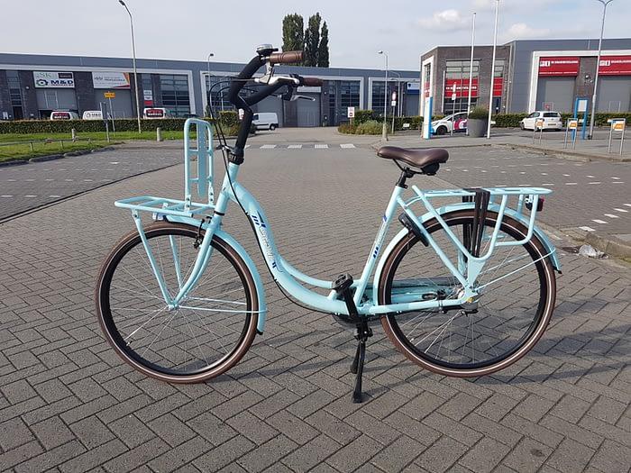 Static Queen 28 inch moederfiets blauw 2