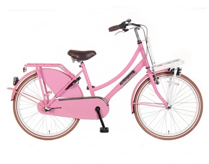 Meisjes Transportfiets Popal Daily Dutch N3 Basic Plus 24/26 inch Roze