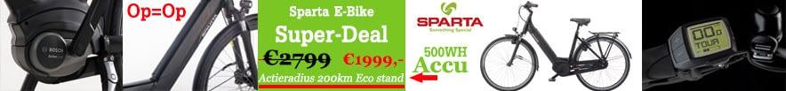 Banner Sparta Ebike Elektrische fiets Damestfiets 28 inch Damesfiets
